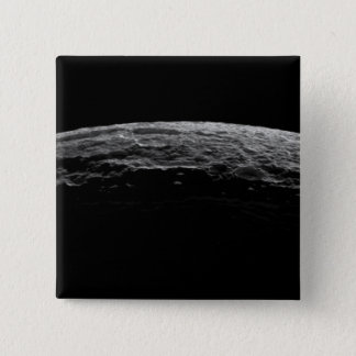 An unreal landscape of Saturn's moon Pinback Button