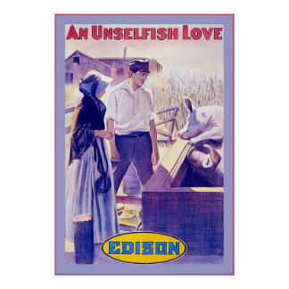 An Unselfish Love ~ Vintage Movie Poster ~ 1910