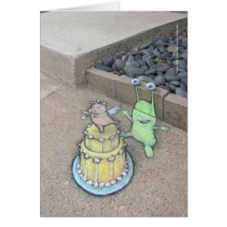 an unusual cake topper greeting card