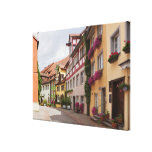 An unusually well-preserved medieval town on the canvas print