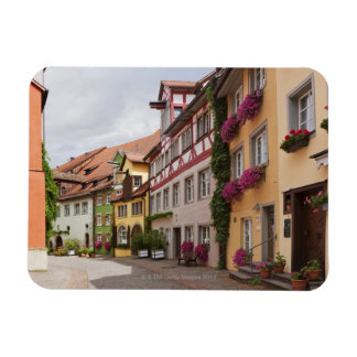 An unusually well-preserved medieval town on the rectangular photo magnet