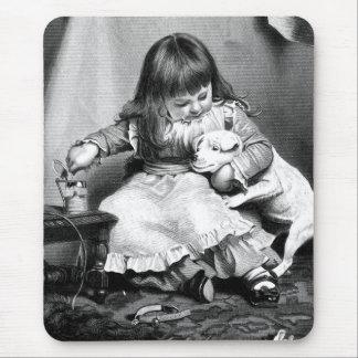 """An Unwilling Patient"" Vintage Illustration Mouse Pad"