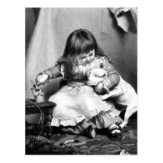 """An Unwilling Patient"" Vintage Illustration Post Card"