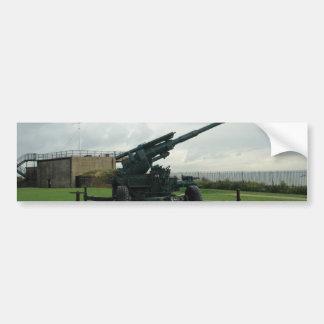 An WW2 anti-aircraft gun at Dover Castle Bumper Sticker