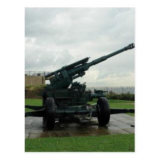 An WW2 anti-aircraft gun at Dover Castle Post Cards
