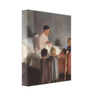 Ana Ancher - el pequeño hermano Lienzo Envuelto Para Galerias