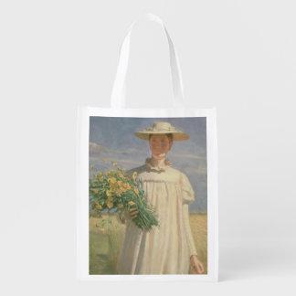 Ana Ancher que vuelve de la flor Picking, 1902 Bolsa De La Compra