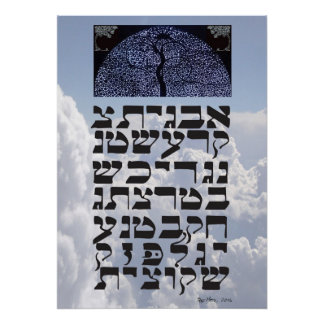 """Ana b""""Koach ~ Initial Letters Poster"""