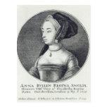 Ana Bolena, grabado al agua fuerte por Wenceslaus Tarjetas Postales