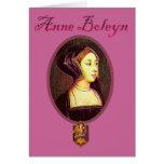 Ana Bolena - tarjeta en blanco de la mujer