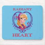Ana, corazón radiante alfombrilla de raton