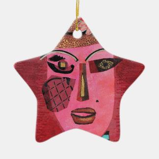 Ana de aguilones verdes adorno navideño de cerámica en forma de estrella
