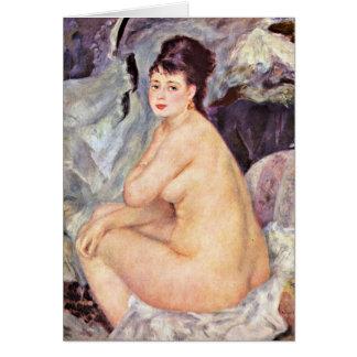 Ana de Pierre-Auguste Renoir Tarjeton