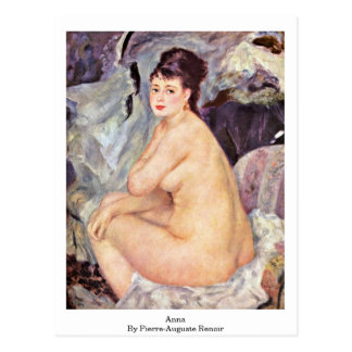 Ana de Pierre-Auguste Renoir Postal