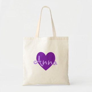 Ana en púrpura bolsas