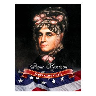 Ana Harrison primera señora de los E E U U Tarjeta Postal