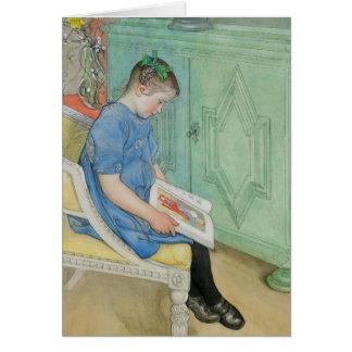 Ana Juana que lee un libro Felicitación