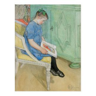 Ana Juana que lee un libro Tarjeta Postal
