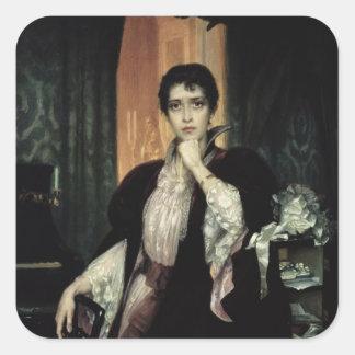 Ana Karenina, 1904 Pegatina Cuadrada