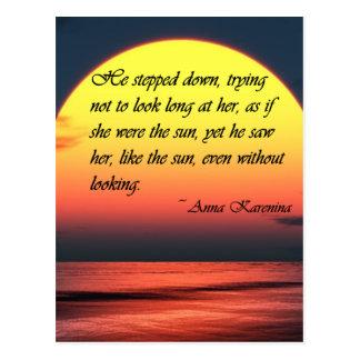 Ana Karenina la vio como la cita del amor de Sun Postales