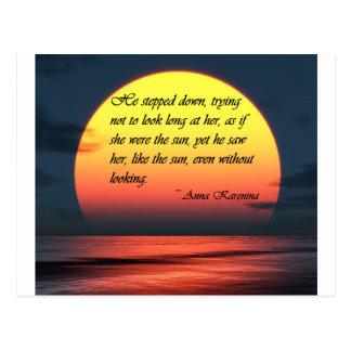 Ana Karenina la vio como la cita del amor de Sun Tarjetas Postales
