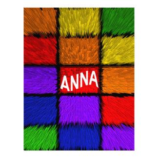 ANA (nombres femeninos) Membrete Personalizado