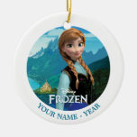 Ana personalizó adorno navideño redondo de cerámica