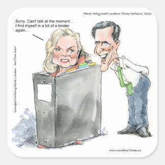 Ana Romney en camisetas y tarjetas divertidas de l Calcomania Cuadradas Personalizada