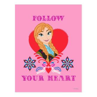 Ana - siga su corazón tarjetas postales