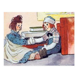 Ana y Andy Raggedy - postal