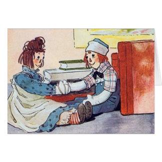 Ana y Andy Raggedy - tarjeta