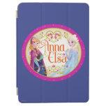 Ana y Elsa con el marco floral Cubierta De iPad Air