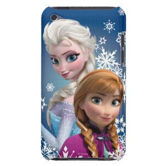 Ana y Elsa con los copos de nieve Barely There iPod Carcasas