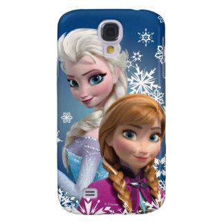 Ana y Elsa con los copos de nieve Funda Para Galaxy S4