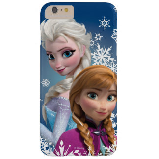 Ana y Elsa con los copos de nieve Funda Para iPhone 6 Plus Barely There