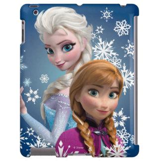 Ana y Elsa con los copos de nieve Funda Para iPad
