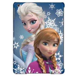 Ana y Elsa con los copos de nieve Funda Para iPad Air