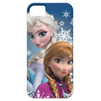 Ana y Elsa con los copos de nieve Funda Para iPhone 5 Barely There