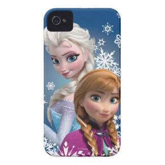 Ana y Elsa con los copos de nieve iPhone 4 Case-Mate Protector