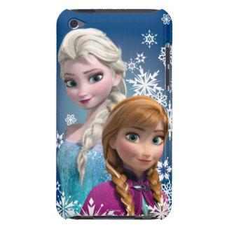 Ana y Elsa con los copos de nieve iPod Case-Mate Fundas