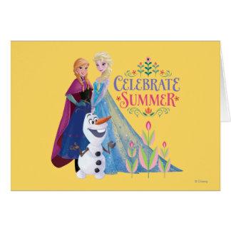 Ana y Elsa el | celebran verano Tarjeta De Felicitación
