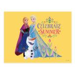 Ana y Elsa el | celebran verano Tarjeta Postal
