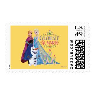 Ana y Elsa el | celebran verano Timbres Postales