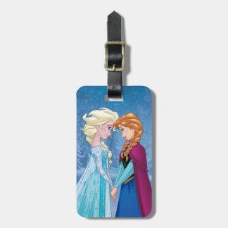 Ana y Elsa el   junto para siempre Etiqueta Para Maleta