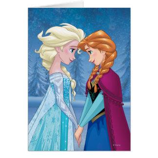 Ana y Elsa el | junto para siempre Tarjeta De Felicitación