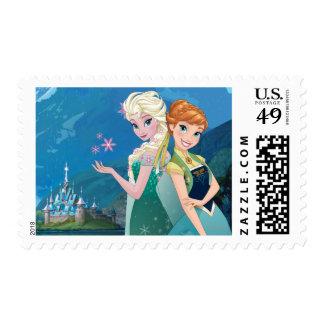 Ana y Elsa el | mi hermana me ama Estampilla