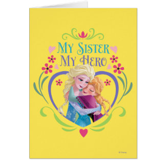 Ana y Elsa el | mi hermana mi héroe Tarjeta De Felicitación
