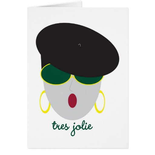 """AnabelNY """"Tres"""" Greeting Card"""