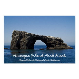 Anacapa Island Arch Rock Poster