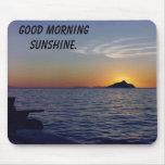 Anacapa, sol de la buena mañana tapetes de raton